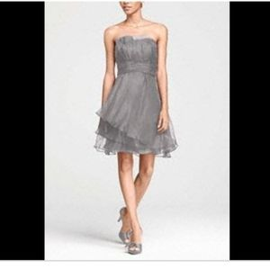 David's Bridal strapless dress cocktail